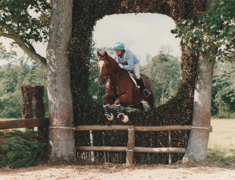 Carol & horse through the keyhole Photo courtesy of Camera Craft
