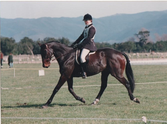 Wendy & Militia eventing dressage Photo courtesy of Barbara Thomson